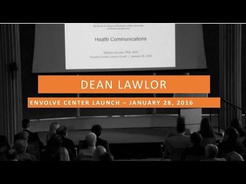 Envolve Launch Event - Dean Lawlor's Introduction for David Bornstein