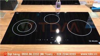 TDM.VN | Review bếp điện từ Malloca MH-03IRA kết hợp hồng ngoại 3 vùng nấu 1 từ 2 hồng ngoại