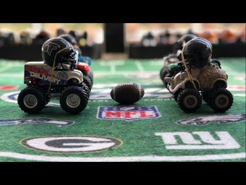 """MONSTER TRUCK FOOTBALL PLAYOFF GAME """"STEELERS VS FALCONS"""""""