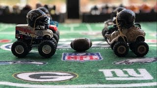 "MONSTER TRUCK FOOTBALL PLAYOFF GAME ""STEELERS VS FALCONS"""
