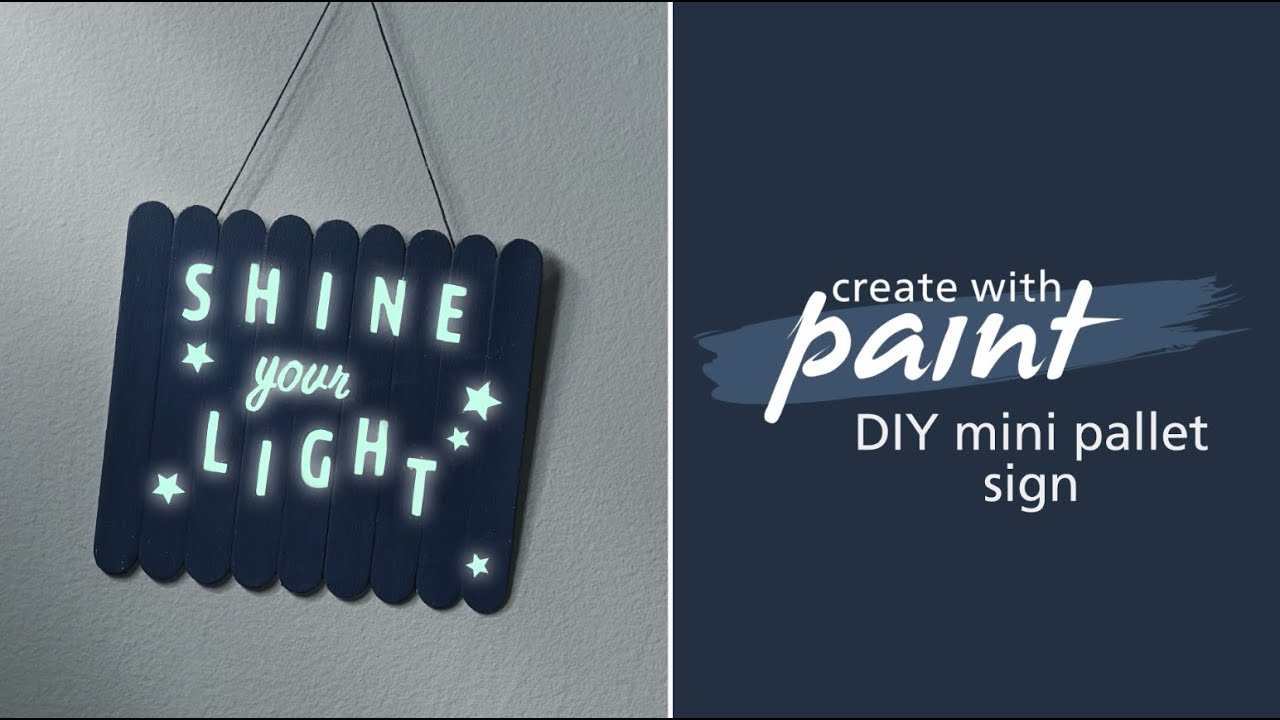 Kid's bedroom project: Make a glow-in-the-dark sign