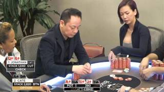 """Live at the Bike $40/$80 LHE - """"Jonathan Ing vs Athena Cate"""" - Limit Holdem @ Bicycle Casino"""