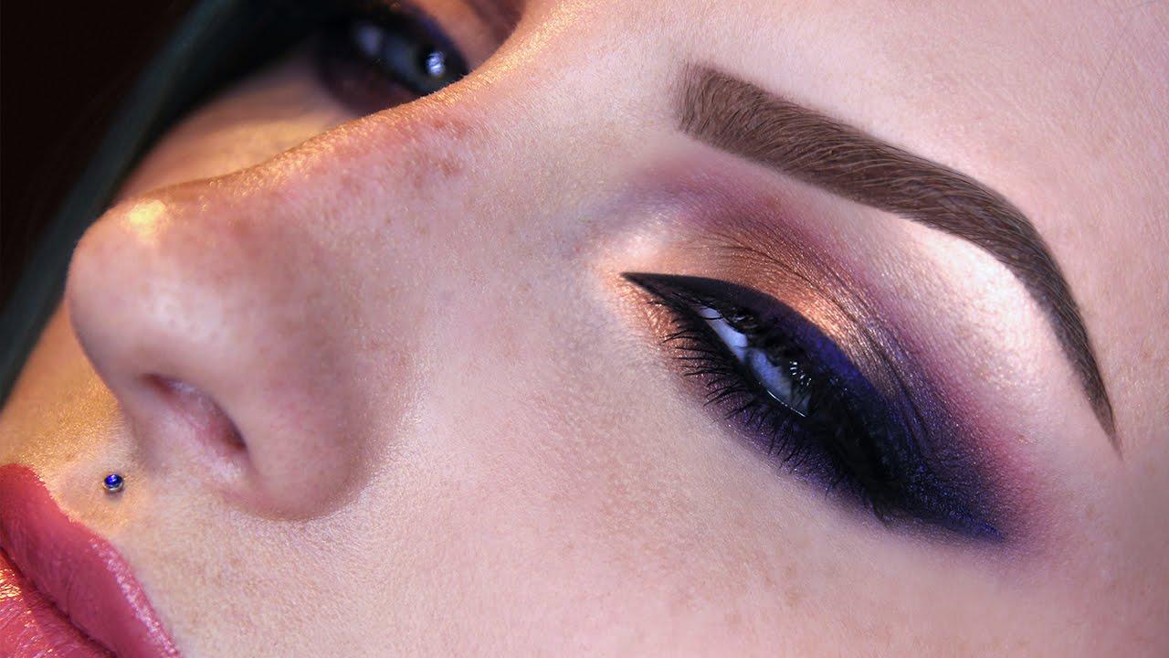 Purple And Gold Smokey Eyes Makeup Tutorial Youtube