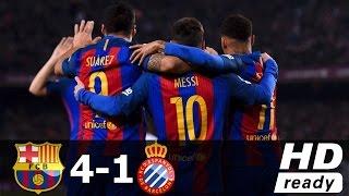 Barcelona vs Espanyol 4-1 Full Highlights & Goals HD | 18 Dec 2016