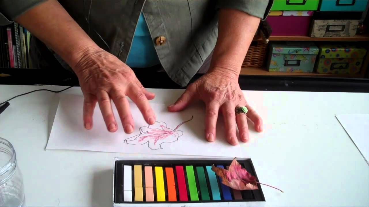 How To Use Chalk Pastels To Add Color To A Drawing Youtube