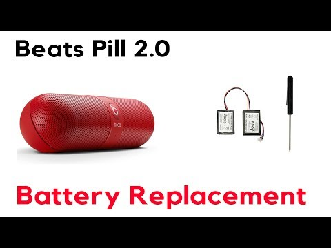How to Replace A Battery Beats By Dre Pill 2.0 Bluetooth Speaker No Power Charge Fix