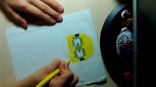 Как нарисовать миньона по клеточкам