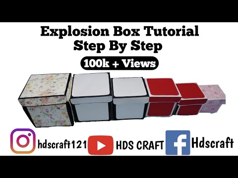 How to make explosion box step by step / Explosion box tutorial for beginners