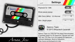 Speccy Tape para Zx Spectrum & Knightmare game