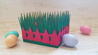 Пасхальная корзинка из фетра DIY Mellas \\ Felt Easter basket