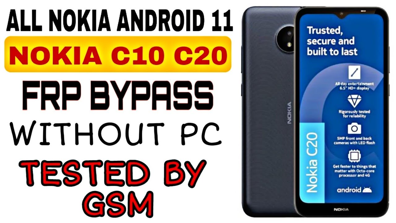 All NOKIA Android 11 FRP/Google Account Bypass WITHOUT PC | Nokia C10 C20 TA-1342 ta-1352 frp bypass