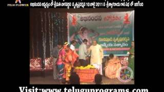 Smt Naga Vardhini Kuchipudi Dance Awards Video  at Sri Thyagaraja Gana Sabha