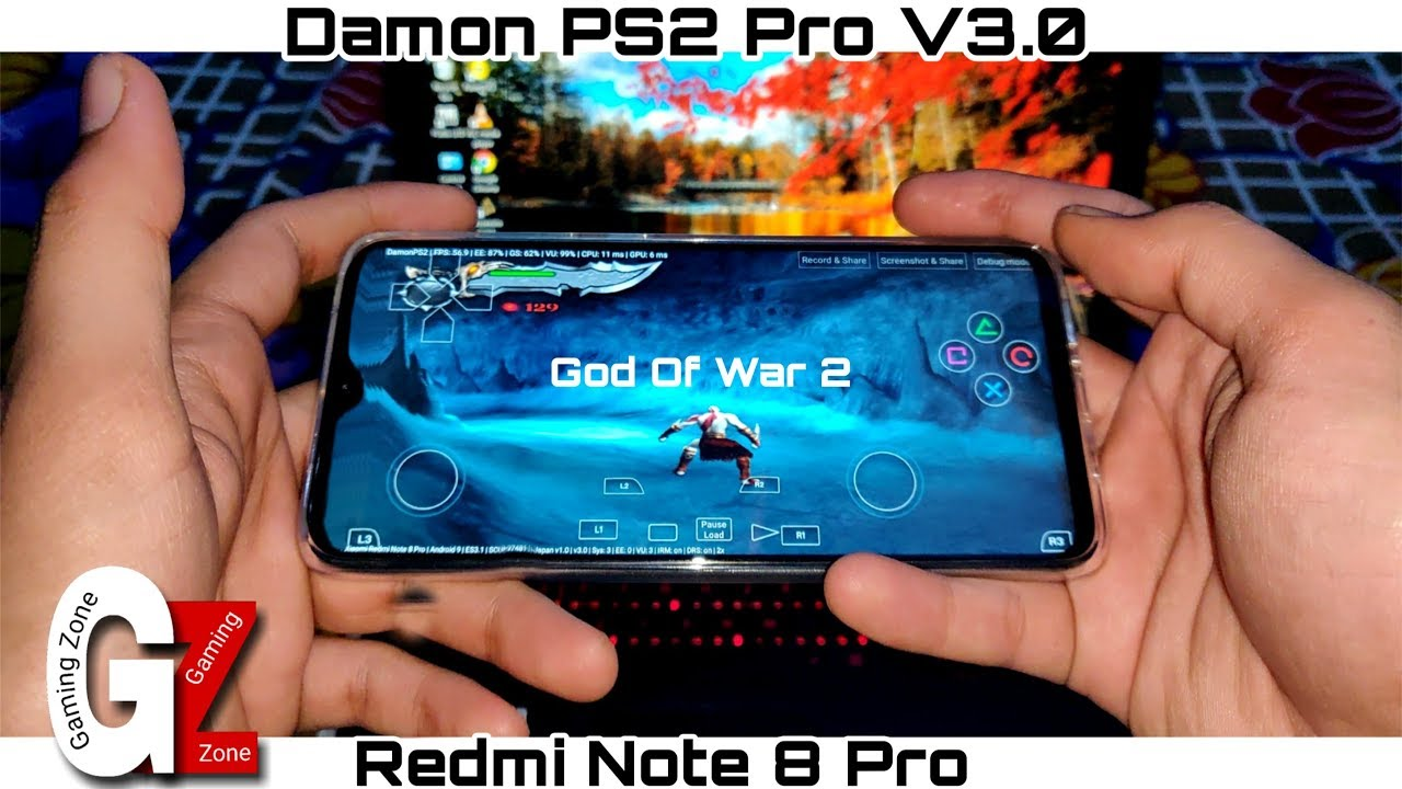 Download God of war 2 Gameplay in Redmi Note 8 Pro   Damon PS2 Pro v3.0