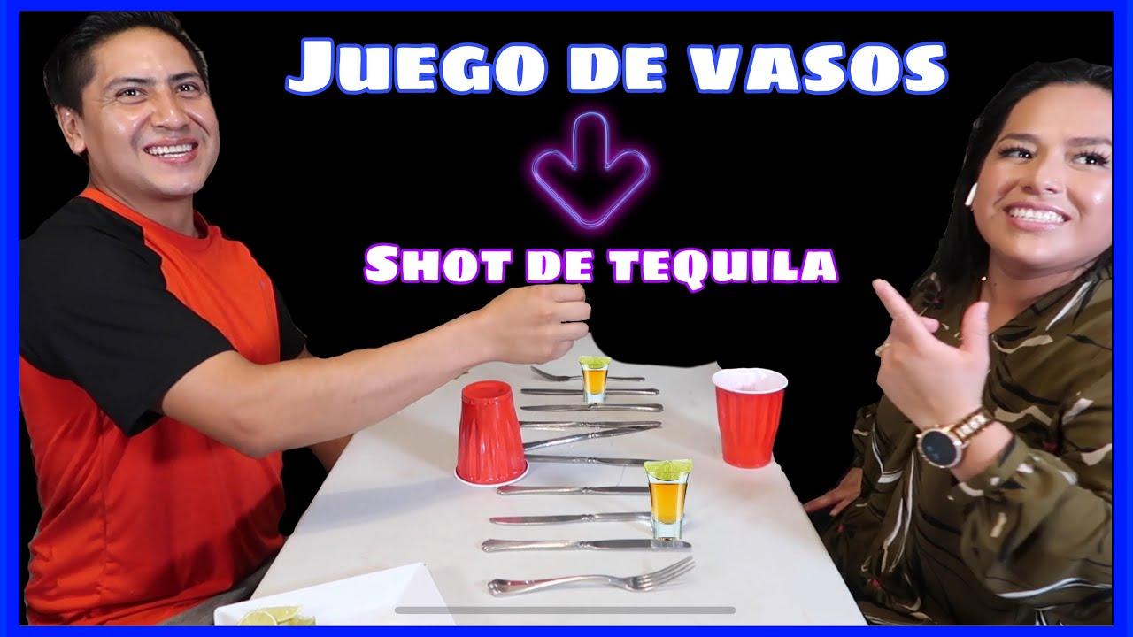 """Juego de Vasos con shot de Tequila """"Mofles vs La jefa"""""""