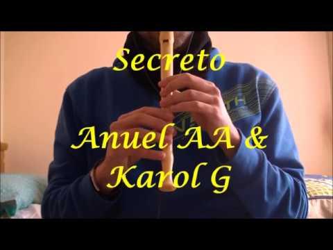 secreto---anuel-aa,-karol-g-/-flauta-dulce-(notas)