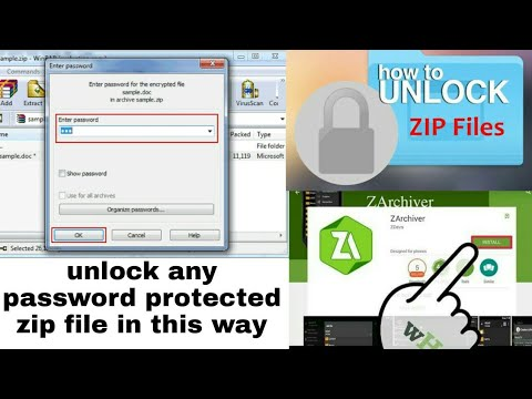 How to open password protected zip file password is fullhacks com-123