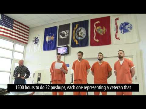 Veterans Ward Participates in 22 Pushup Challenge