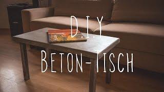 D.i.Y Beton Tisch - der neue Euro Paletten möbel style ( Concrete table)