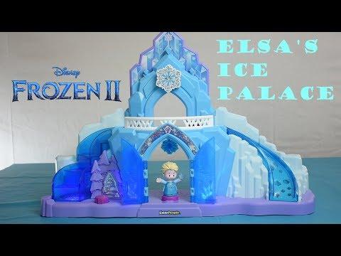 Little People Frozen 2 Elsa's Ice Palace Castle DEMONSTRATION
