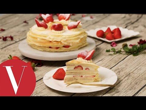 Vogue Kitchen 法式鮮草莓千層蛋糕 Strawberry mille crepes