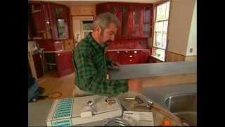 Install Countertops And Kitchen Sinks - Shingle Style Home - Bob Vila Eps.1421