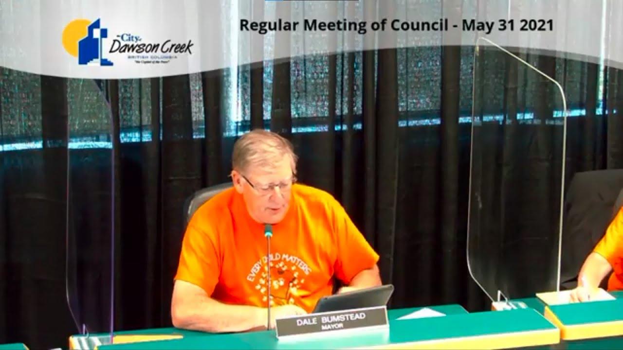 Regular Council Meeting - May 31, 2021