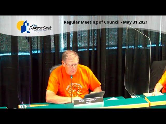 Regular Council Meeting - May 31, 2021 Standard quality (480p)