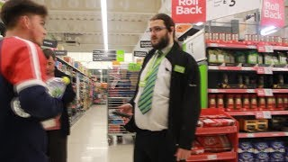 WE GOT BANNED FROM ASDA! CHASED BY SECURITY! (NOT CLICKBAIT)
