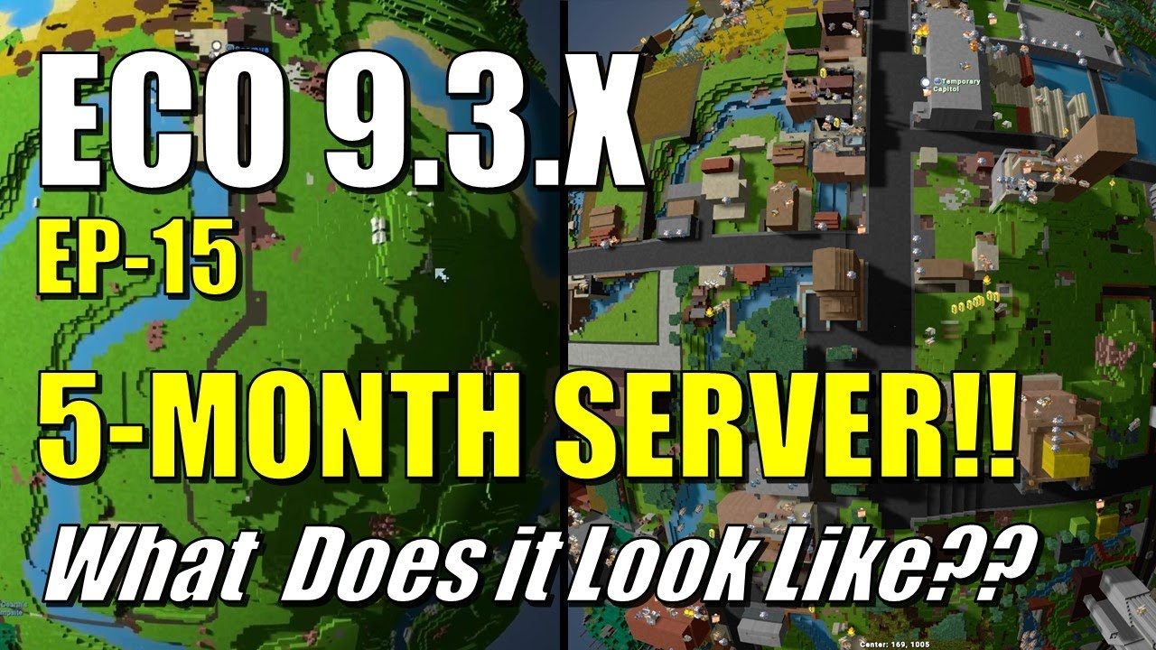 Download ECO 9.3 - EP15 - 5 MONTH SERVER!!  What Does it Look Like??  Is it Alive and Fun?  Economy/Problems