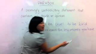 C2C Lesson: English - What is a Paradox?