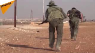 """شاهد.. تحرير بلدة """"صوران"""" الاستراتيجية من التمهيد الناري حتى رفع العلم السوري"""