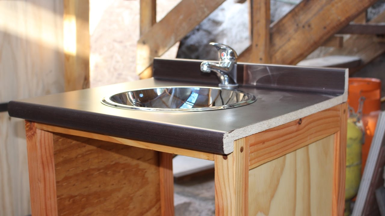 C mo hacer un mueble para el lavamanos parte 1 youtube - Como hacer un mueble de bano ...