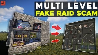 RUST | MULTI LEVEL *FAKE* RAID SCAM TRAP Floods My Base With LOOT!