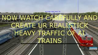 COMMENT CRÉER UN SIMPLE ET HEAVY TRAFFIC AI ACTIVTY EASLILY OUVERT RAILS/MSTS AVEC LA SIMULATION VIDÉO