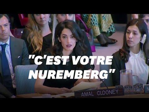 """Amal Clooney réclame un """"Nuremberg"""" contre les violences sexuelles"""