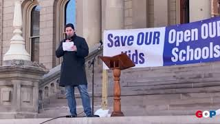 Sen. MacDonald speaks at the Save Our Kids rally at the Capitol
