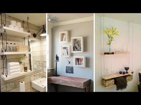 💘5 Cheap DIY Hanging Shelving Ideas for Small Bedroom 💘