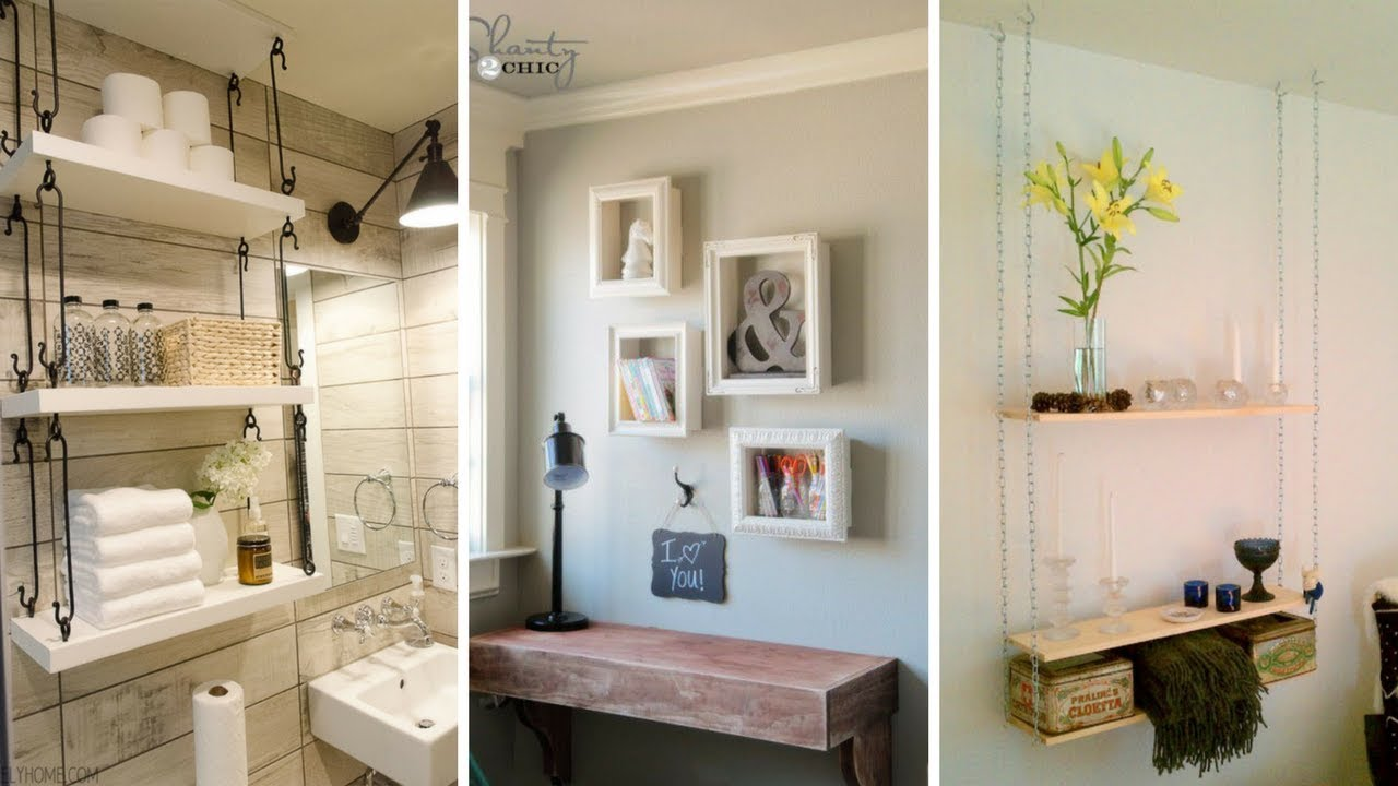 5 Cheap DIY Hanging Shelving Ideas for Small Bedroom ... on Cheap Bedroom Ideas For Small Rooms  id=59285