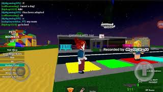 Playing roblox I'm a kid and I have a dog to!