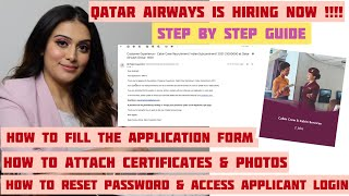 How to apply for Qatar Airways vacancy 2021 How to fill the application form for cabin crew vacancy