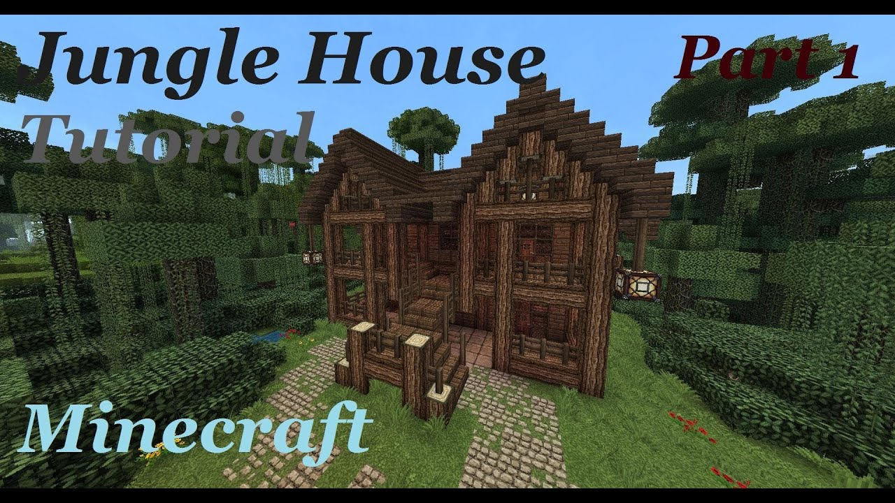 Minecraft jungle mansion tutorial part 1 youtube for Jungle house music