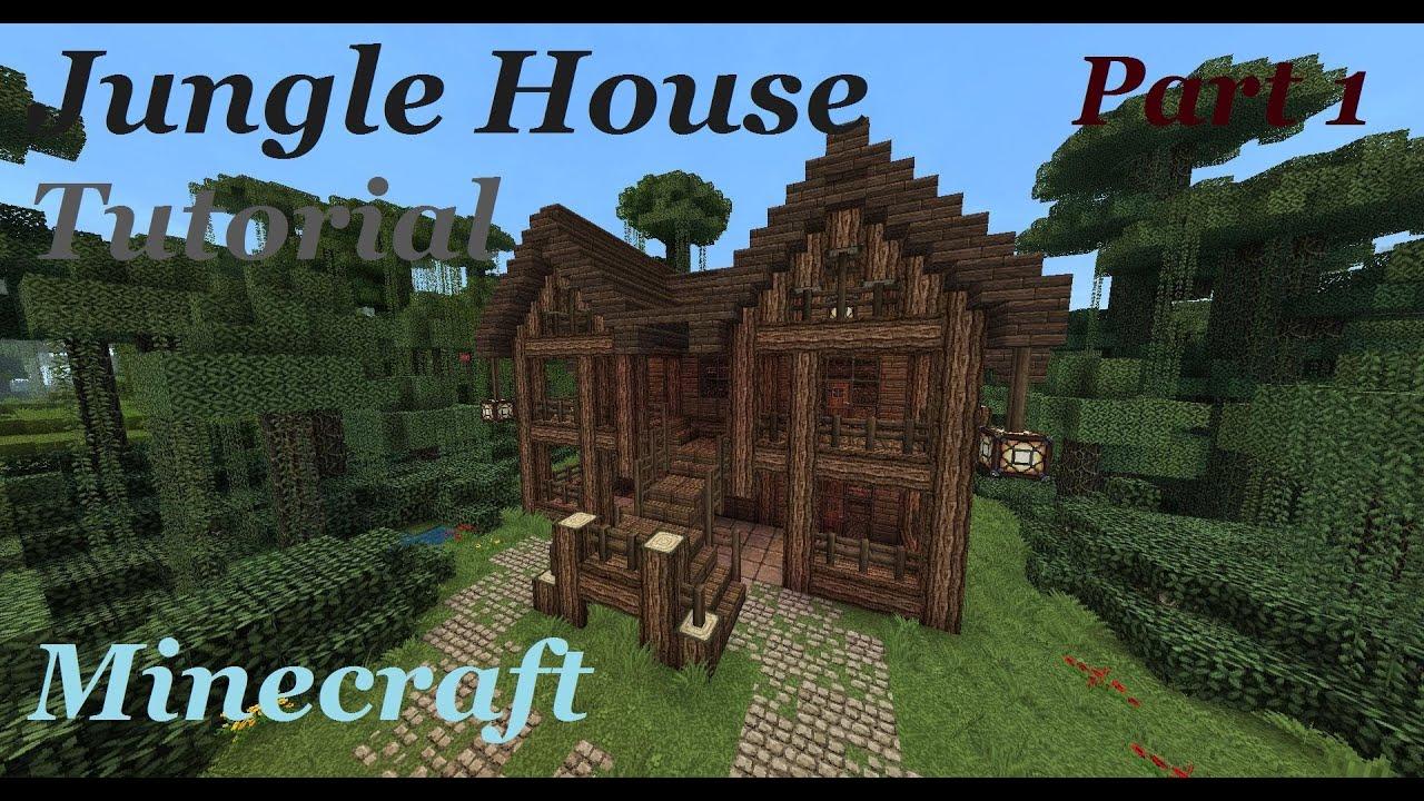 Log Cabin Blueprints Minecraft Jungle Mansion Tutorial Part 1 Youtube