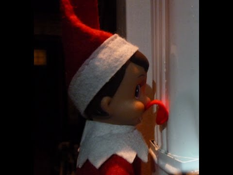My Elf On The Shelf Caught With His Tongue Stuck To A Pole