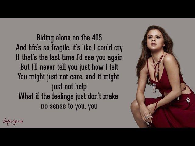Camouflage - Selena Gomez (Lyrics)