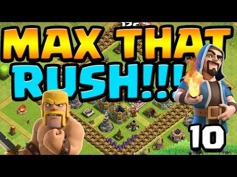 TOO MUCH DARK ELIXIR!  Max that Rush ep10 Live Stream!  Clash of Clans