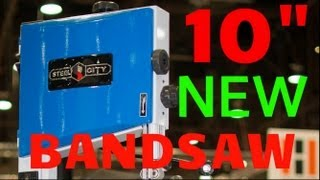 "10"" Bench Band Saw: New Benchtop Bandsaw From Steel City 50110"