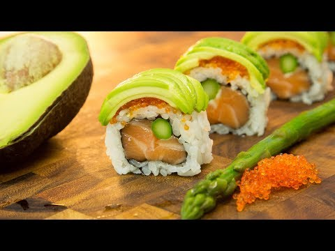 Flying Tiger Sushi Roll - Salmon Avocado Roll