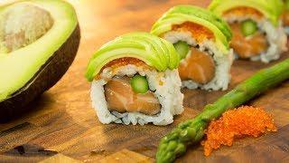Flying Tiger Sushi Roll - Salmon Avocado Roll