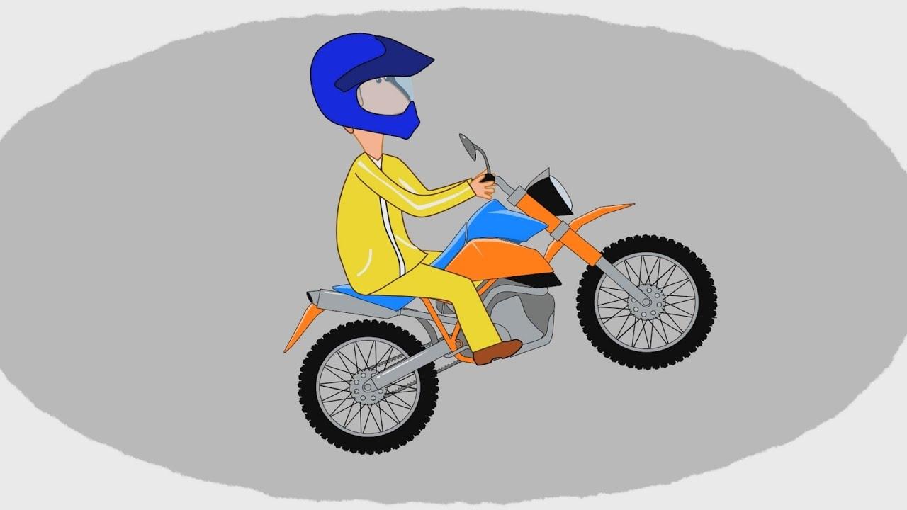 Мультик - Раскраска. Учим Цвета - Мотоциклы - Часть 1 ...