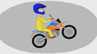 Мультик - Раскраска. Учим Цвета - Мотоциклы - Часть 1